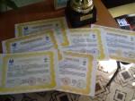 Сертификаты об окончании курсов